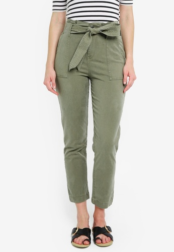 TOPSHOP brown Popper Utility Trousers 56C29AA2BCED36GS_1