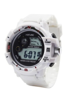 Aldrin Sports Men's Silicone Strap Watch XJ-931