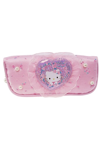 Hello Kitty pink Hello Kitty Pink Lace Square Pencil Bag 40C73KCE94B000GS_1