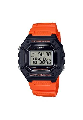 Casio orange CASIO GENERAL W-218H-4B2VDF UNISEX'S WATCH C4642AC4A66DA0GS_1