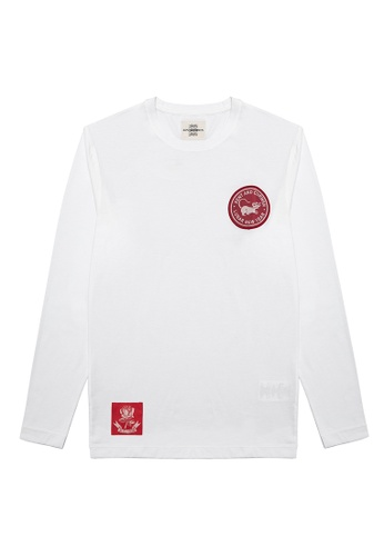 Kent and Curwen white New Year Capsule Collection Long Sleeve T-shirt D78CBAA8662853GS_1