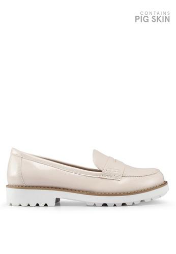 Keddo 米褐色 漆皮樂福鞋 E7BE7SH810E166GS_1
