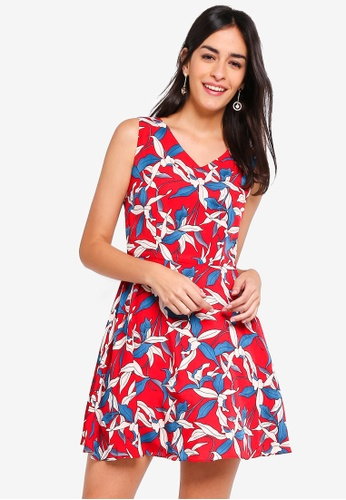 ZALORA red Fit And Flare Mini Dress BF8D0AAC3A8B94GS_1