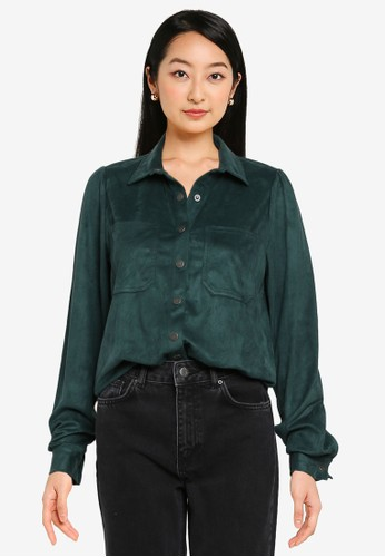 Noisy May green Halo Hill Long Sleeves Shirt EB4EDAAE893B96GS_1
