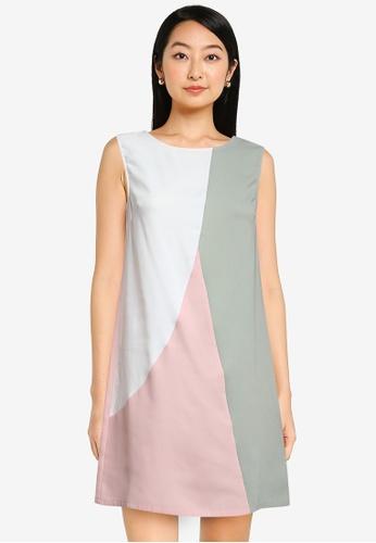 ZALORA BASICS multi Colourblock Mini Dress A239AAAC2A47BCGS_1