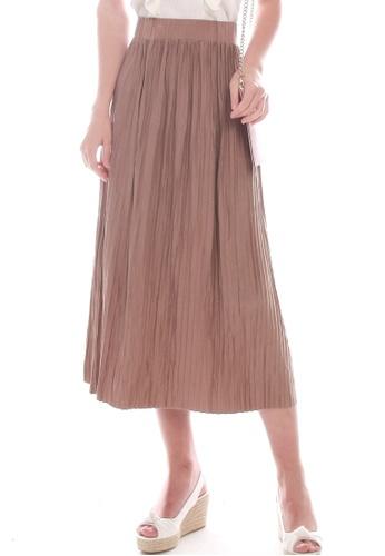 JOVET brown Pleated Skirt BD248AA380FCE3GS_1