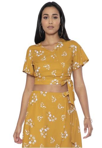 FabAlley yellow Floral Wrap Crop Top 1399DAA34CD937GS_1