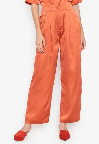 the___edit orange Dua Satin Pants 8B0ACAA0359EEDGS_1
