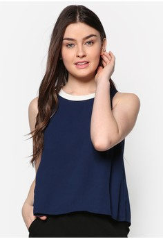 Contrast Neck Band Top