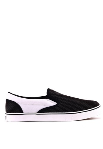 World Balance black Raleigh MS Slip On Sneakers 0BADCSHC94C984GS_1