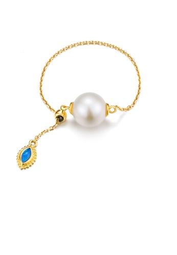 SUNSET 金色 Premium 18K Gold Pearl Ring 4DA32AC0E554E1GS_1