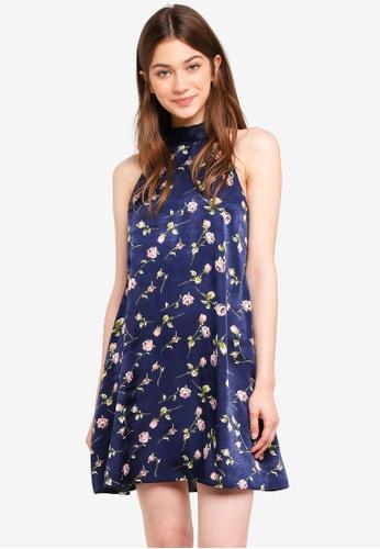Something Borrowed navy High Neck Swing Mini Dress 67400AA31FCCB3GS_1