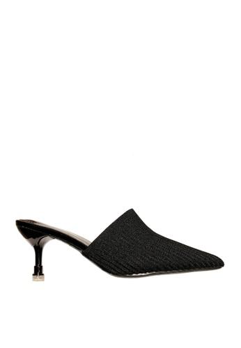 Twenty Eight Shoes black Knitted Fabric Mid Heels VL668 D5C94SHFADDC79GS_1
