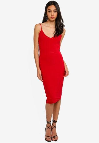 c9080d265a Buy MISSGUIDED Double Layer Slinky Cowl Back Midi Dress Online ...