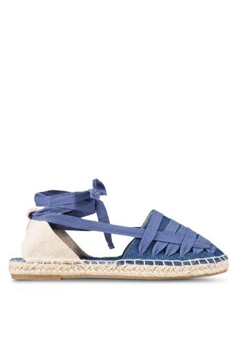 Bata blue Lace Up Flats BA156SH0RY6SMY_1