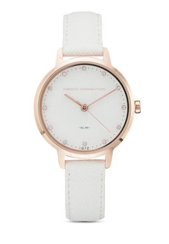 FC1254WRG esprit taiwan防刮紋細帶手錶, 錶類, 皮革錶帶