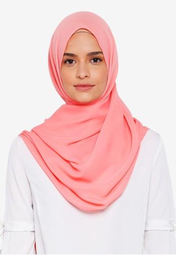 Lubna pink Basic Shawl 33427AA59CFF78GS_1