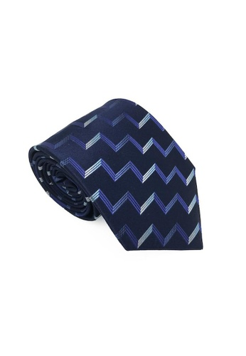 The Little Link Cufflinks blue Austin Silk Tie TH089AC0F6IQSG_1