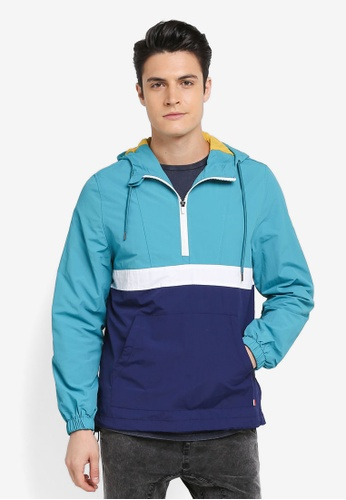 Cotton On blue and navy Vintage Spray Kagoul Jacket 9B8C0AA599852FGS_1