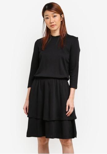 Selected Femme black Audrey 3/4 Sleeves Dress SE157AA0SED4MY_1