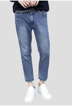 復古水洗牛仔褲