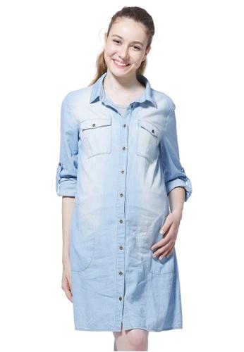 2018 shoes undefeated x order Maternity & Nursing Denim Shirt Dress