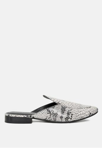 RAG & CO 多色 蛇紋皮革拖鞋 B7A17SH767D9B1GS_1