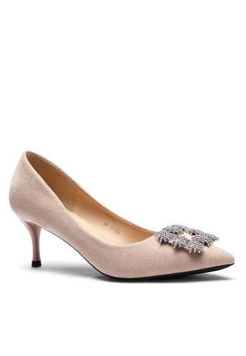 Twenty Eight Shoes 6.5CM 尖頭猄布中踭鞋208-51 FD923SH5E1B60DGS_1