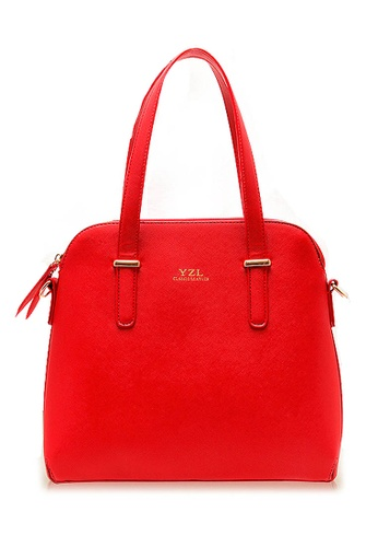 LULUGIFT red Lulugift Set of 4 Fine High Class Luxury Fashion Elegant Bag Kate Design Red LU989AC70HNPMY_1