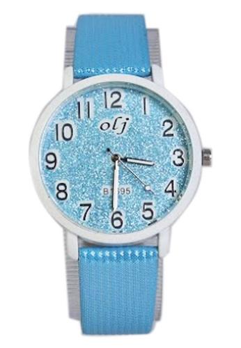 World of Watches blue OLJ Glitters Women's Leather Strap Watch B1695 WO566AC66TZTPH_1