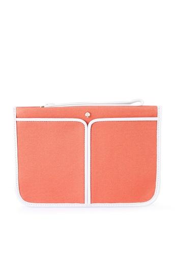 kate spade new york orange Small Wristlet Pouch (cv) AD048AC14030AFGS_1