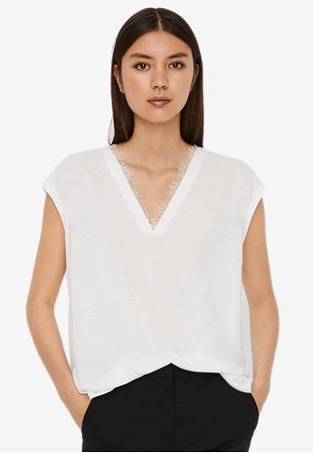 Vero Moda white Carrie Short Sleeve Top 450ACAA6202BDDGS_1