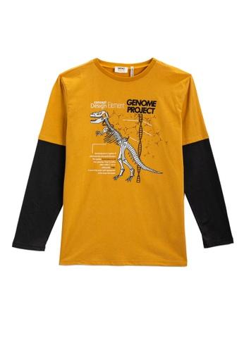 KOTON yellow T-Shirt For Boys FB2C4KA1EA4D8BGS_1