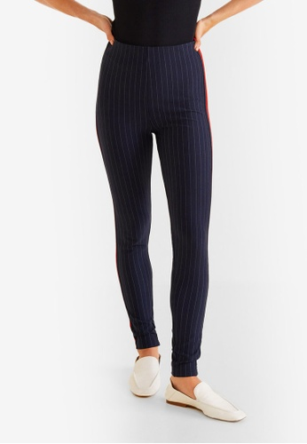 Mango navy Striped Slim-Fit Trousers E785CAA9FABACCGS_1