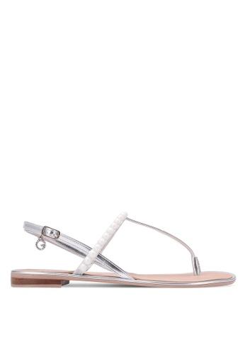 Guess silver Henrica Rhinestone Sandals GU020SH0S7L9MY_1