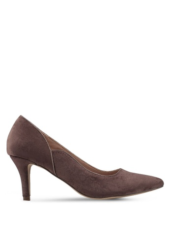 Carlton London 褐色 麂皮粗跟高跟鞋 EF985SH25A2545GS_1