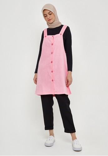 MFMW pink MFMW Marjorie Pinafore Pink B5BF5AA45F3572GS_1