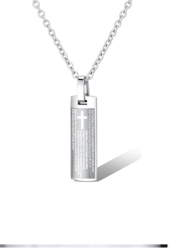 ADORA silver Stainless Steel Silver Pendent Necklace E0F9DACE6AA857GS_1