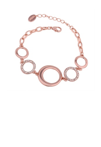 Glamorousky white Elegant Plated Rose Gold Circle Bracelet with Austrian Element Crystal 4D37CAC197CF81GS_1