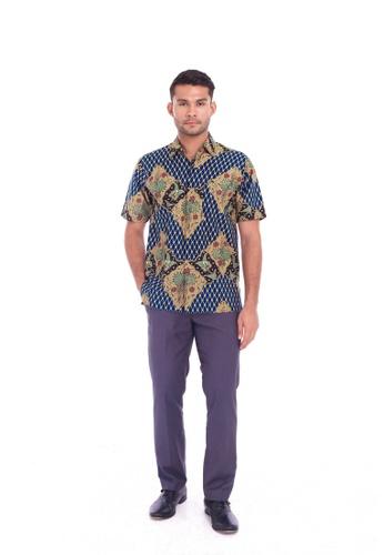 TUSCA blue Eusoff Classic Batik Shirt BCEBDAA8F764AEGS_1