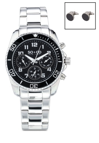 SO&CO silver Hudson 5029.1.cf Watch Set 93FBCAC9112354GS_1