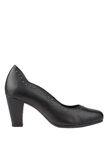 452107dfd31 Hush Puppies Meaghan Stud Pump In Black A4FACSH6FA58A4GS 1
