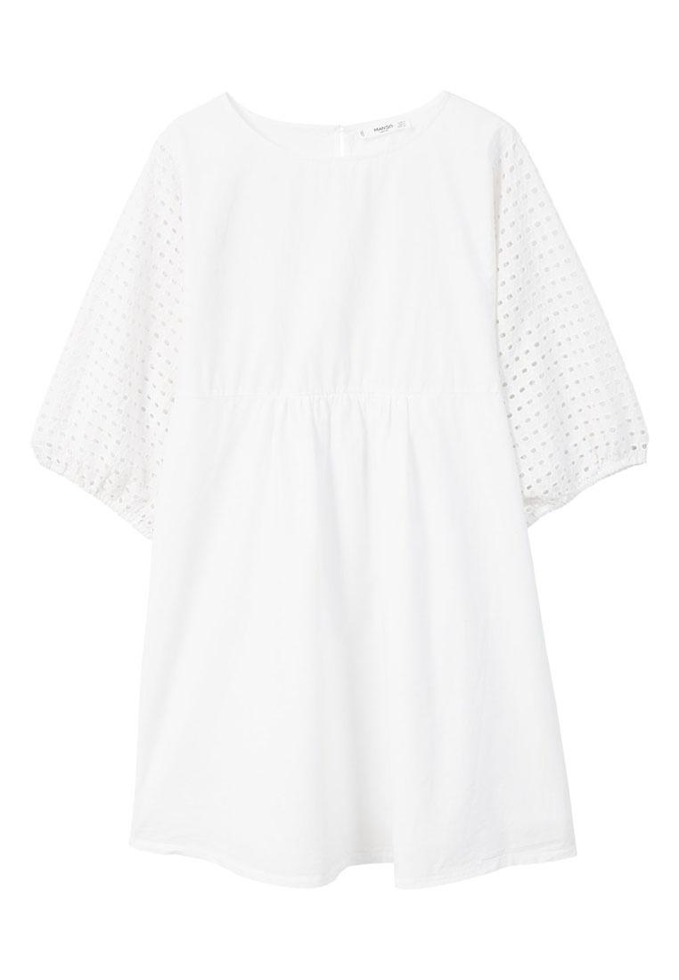 Dress Cotton Cotton Dress Mango Openwork White Openwork Cotton Mango Openwork White Dress TBCX1xFqC