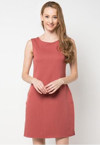 WISHFUL orange Hazel Back Open Dress WI930AA81KWOID_1
