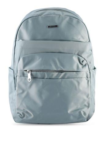 NUVEAU blue Lightweight Nylon Backpack D4FAEACA94D154GS_1
