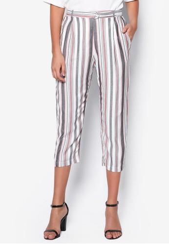 條紋七esprit mongkok分長褲, 服飾, 長褲及內搭褲