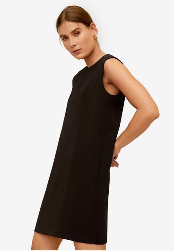 Mango black Flowy Shift Dress 7E6FCAA2D3E52FGS_1