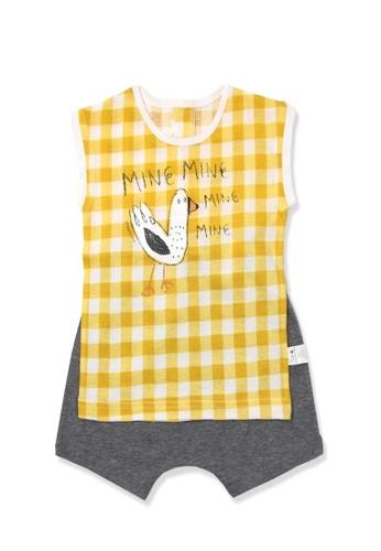 Organic mom Organic Cotton Henry Pigeon Pajamas 8476CKA69B79FAGS_1