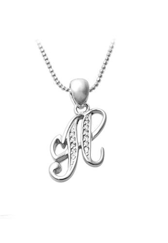 """The LoveMark silver Capital """"H"""" Necklace TH516AC68XRFPH_1"""
