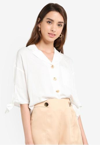 a8c7ef14308d Buy ESPRIT Short Sleeve Woven Top Online on ZALORA Singapore